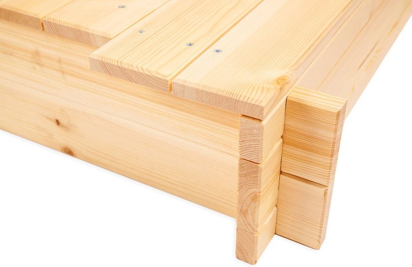 Folkland Timber Sandbox with Removable Lid 1200x200x1200mm
