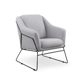 Fotelis Soft 2, pilkas, juodas