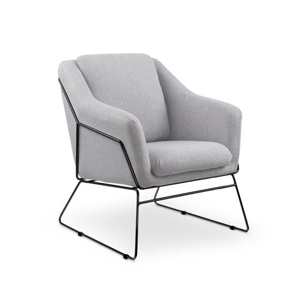 Fotelis Halmar Soft 2 Light Grey, 76x69x81 cm
