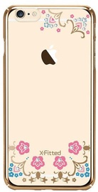 X-Fitted Lucky Flower Swarovski Crystals Back Case For Apple iPhone 6/6s Gold