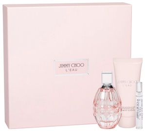 Rinkinys moterims Jimmy Choo L'Eau 90 ml EDT + 100 ml Body Lotion + 7.5 ml EDT