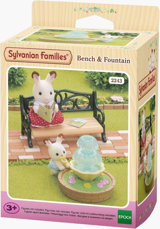 Žaislinė figūrėlė Epoch Sylvanian Families Bench & Fountain 2243