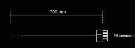 Be Quiet! Power Cable CC-7710 0.7m Black