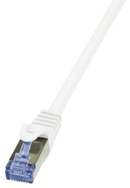 LogiLink CAT 6a S/FTP Cable White 1 m