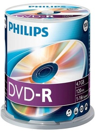 Philips DVD-R 4.7GB Cake Box 100pcs