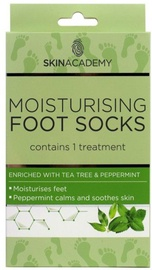 Skin Academy Moisturising Foot Socks Tea Tree & Peppermint 1pcs