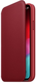 Apple Leather Folio Case For Apple iPhone XS Product Red