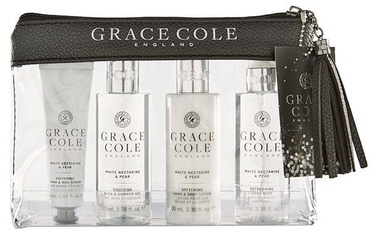 Grace Cole Luxury Travel Essentials 4pcs White Nectarine & Pear