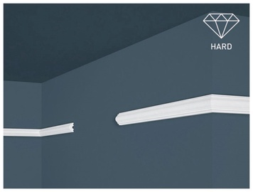 Lubų apdailos juostelės Intero HW-1, balta, 200 x 1.1 cm
