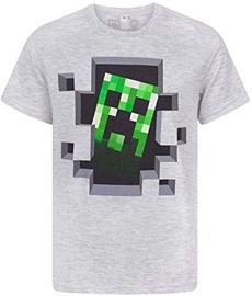 Jinx Minecraft Creeper Inside Men's Premium T-Shirt Grey L