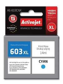 Activejet Ink Cartridge For Epson Cyan AE-603
