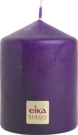 Eika Pillar Candle 8x6cm Purple