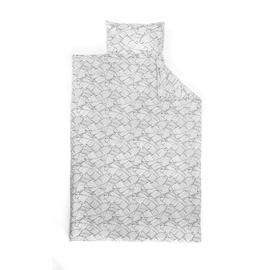 Gultas veļas komplekts Domoletti 11005, balta/pelēka, 140x200
