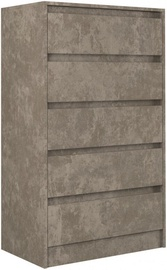 Komoda Top E Shop Karo K5 Concrete, 70x43x124 cm