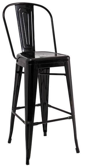 Baro kėdė Signal Meble Loft H-1 Black, 1 vnt.