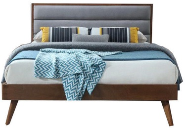 Halmar Bed Orlando Grey/Walnut