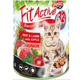 Konservi pieaugušiem kaķiem Panzi Fit Active, ar cāļa gaļu, 415 g