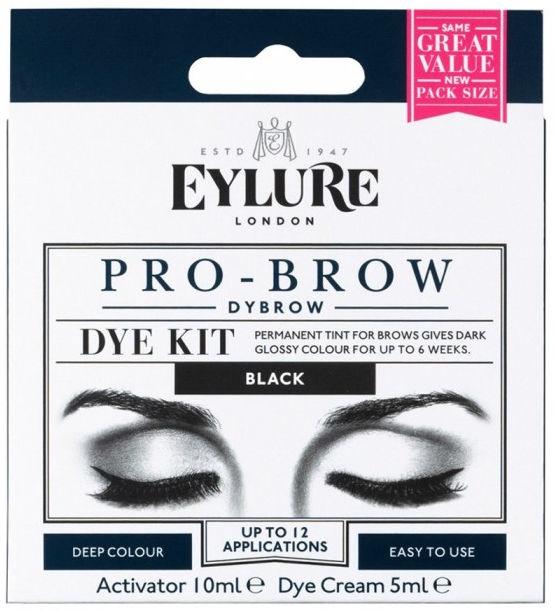 Uzacu krāsa Eylure Pro-Brow Dybrow Black, 15 ml