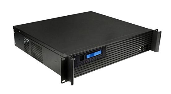 Techly 19'' 2U Industrial Rack-Mount Chassis ATX Black