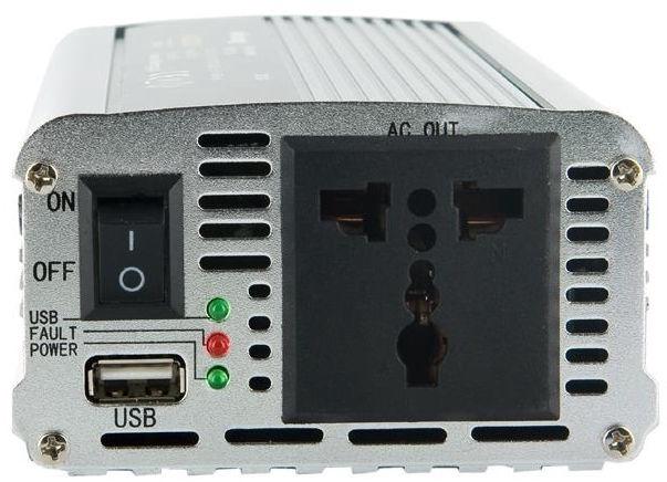 Whitenergy Power Inverter 24V DC To 230V AC USB 400W