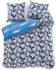 Gultas veļas komplekts DecoKing Diamond, zila/balta, 155x220/80x80 cm