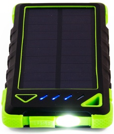 PowerNeed Power Bank 8000mAh With Solar Panel Green