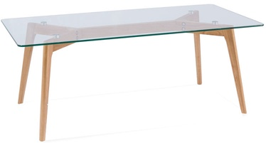 Signal Meble Table Oslo L1 Glass/Oak 120x60cm