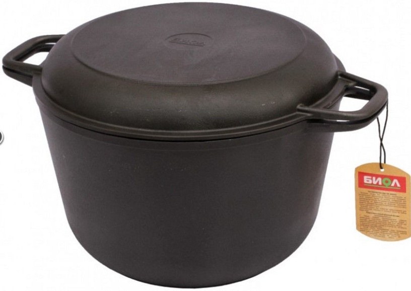 Biol Casting Iron Casserole with Frying Lid SC010 26cm 6l