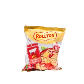 Makaronai, Rollton, jautienos skonio 85 g.