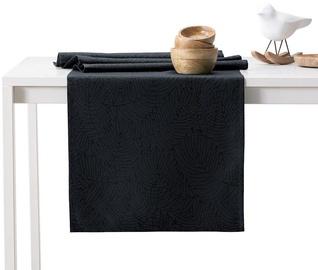 AmeliaHome Gaia AH/HMD Tablecloth Set Black 115x250cm/35x250cm 2pcs