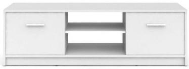 ТВ стол Black Red White Nepo Plus White, 1385x465x425 мм