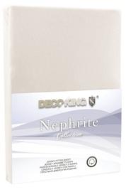 Palags DecoKing Nephrite, smilškrāsas, 140x200 cm, ar gumiju