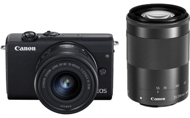 Canon EOS M200 + EF-M 15-45mm + 55-200mm IS STM Black