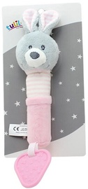 Axiom New Baby Plush Toy With Sound And Teether Bunny 17cm