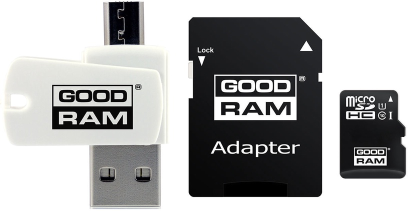 GoodRam M1A4 All-in-One 128GB MicroSDXC UHS-I Class 10 + Adapters