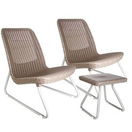 Keter Rio Patio Set Brown