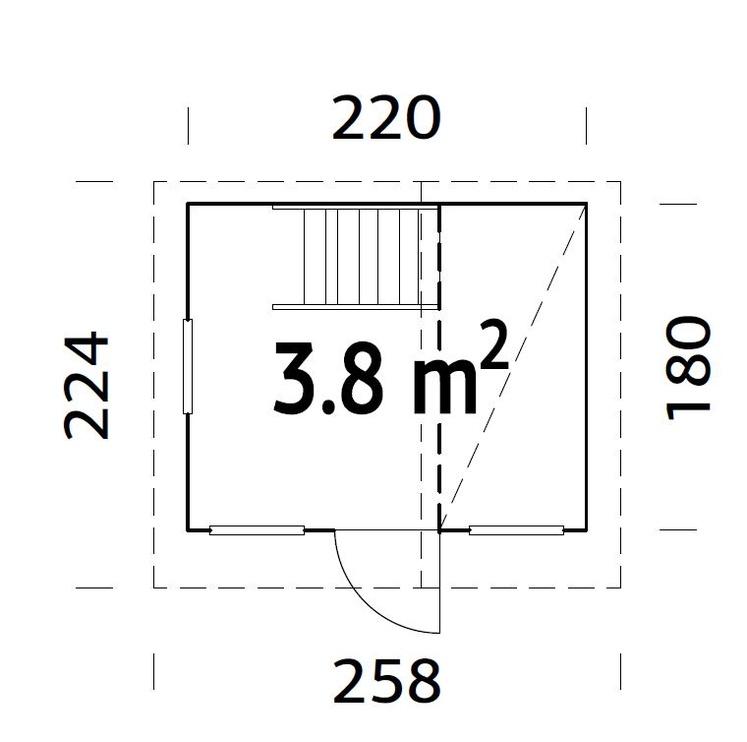 Mängumaja 4IQ Tom ELBD16-2218, 3.8 m²