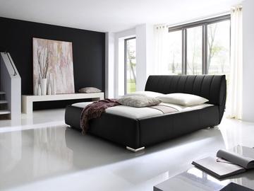 Кровать Meise Möbel Bern Black, 200x180 см, с решеткой