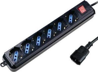 Techly 300415 UPS Power Strip 6 Sockets 1.5m Black
