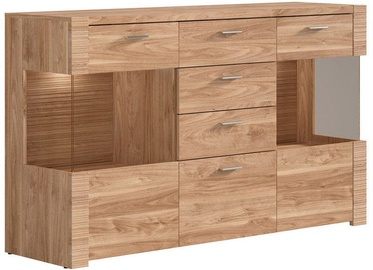 Black Red White Raflo Chest Of Drawers 45.5x160x96.5cm Walnut