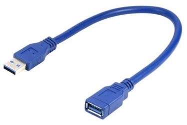 Gembird Cable USB 3.0 / USB 3.0 Blue 0.15m
