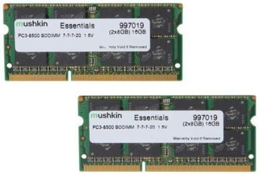 Mushkin Essentials 16GB DDR3 1066MHz CL7 SO-DIMM Kit Of 2 997019
