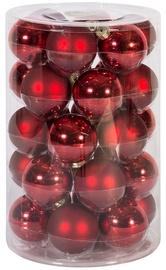 Home4you Christmas Balls 6cm 30pcs Red