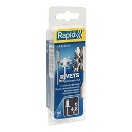 KNIEDES AL 4,8X12MM, 50 GAB. + DRILL C (RAPID)