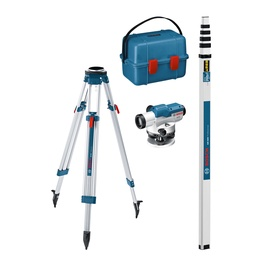 Optinis nivelyras Bosch Blue GOL 26D+ BT160+ GR500