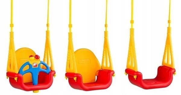 EcoToys Bucket Garden Swing 3 in 1 Red/Yellow