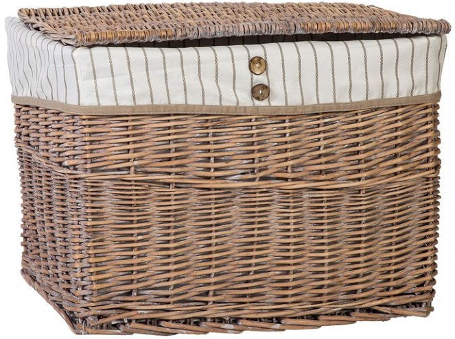 Home4you Basket Willi 2 With Lid 58x38xH42cm Light Brown