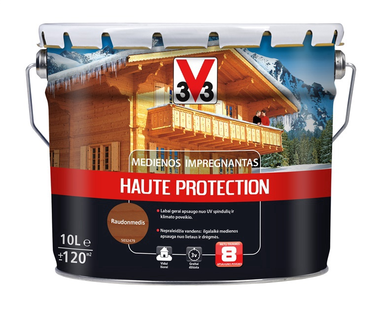 Impregnantas V33 Haute Protection, raudonmedžio spalvos, 10 l