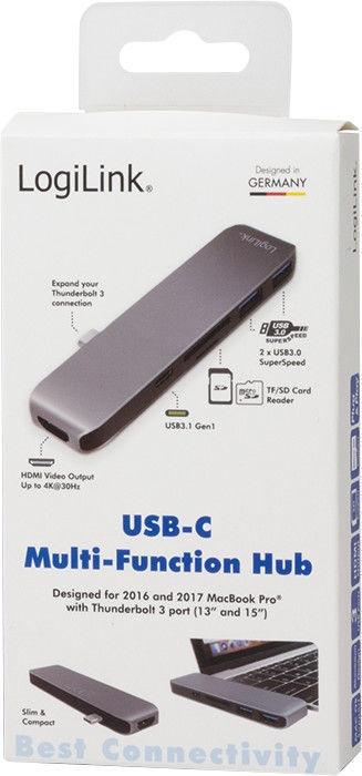 LogiLink USB-C 6-in-1 Multi-functional HUB
