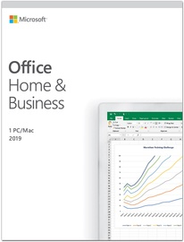Microsoft Office Home and Business 2019 Retail Estonian License Medialess